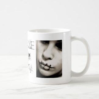 silence is the enemy! coffee mug