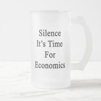 Silence It's Time For Economics Mug