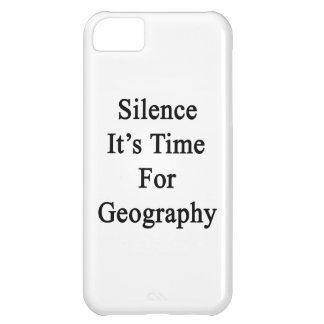 Silence It's Time For Geography iPhone 5C Cover