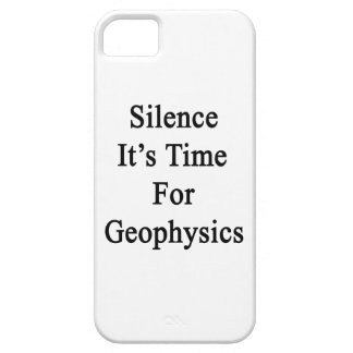Silence It's Time For Geophysics iPhone 5 Cover