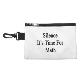 Silence It's Time For Math Accessory Bag