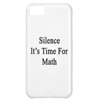 Silence It's Time For Math iPhone 5C Case