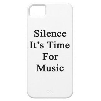 Silence It's Time For Music iPhone 5 Cases