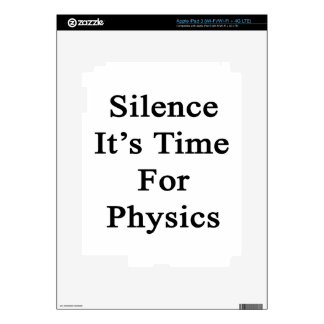 Silence It's Time For Physics Skin For iPad 3