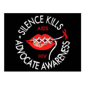 Silence Kills Postcard