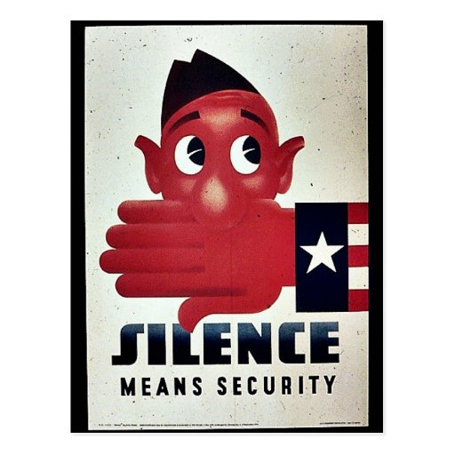 Silence Means Security Postcard