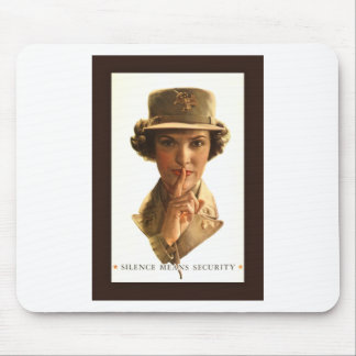 Silence Means Security ~ US WW II Poster Mouse Pad