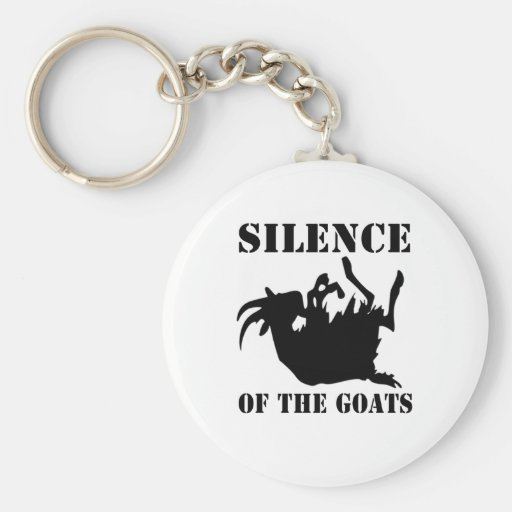 Silence of the Goats Basic Round Button Keychain