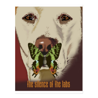 Silence of the Labs Postcard