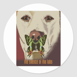 Silence of the Labs Round Stickers