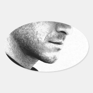 Silence Oval Sticker
