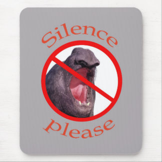 Silence,please Mouse Pad