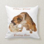 Silence Please Resting Area Throw Pillow