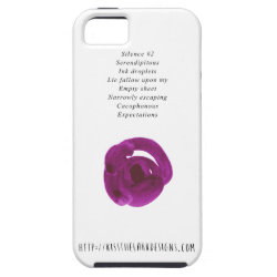 Silence - Poetry by Jessica Fuqua iPhone SE/5/5s Case