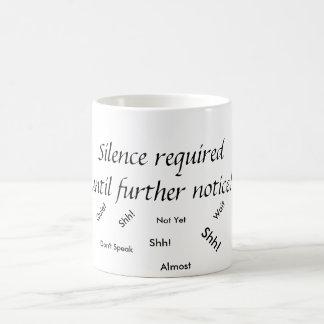 Silence Required Coffee Mug