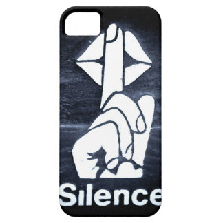 Silence sign on cover iPhone 5 cover
