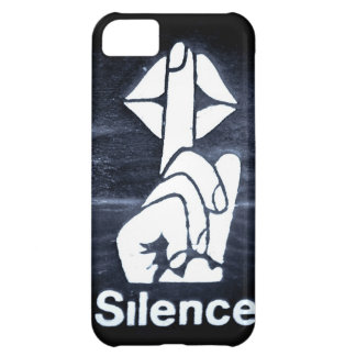 Silence sign on cover iPhone 5C cover
