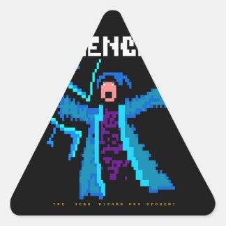 Silence!  The Head Wizard Has Spoken Triangle Stickers
