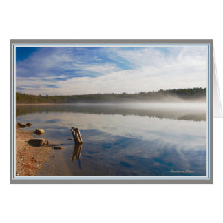 Silence: Walden Pond--communing with the soul. Card