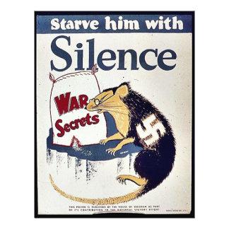 Silence War Secrets Flyer