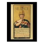 Silence World War II Postcard