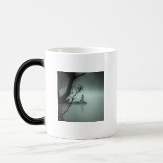 silence, Writing is a struggle against silence.... 11 Oz Magic Heat Color-Changing Coffee Mug