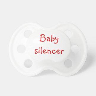 Silenciador del bebé chupete de bebe