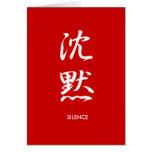 Silencio - Chinmoku Tarjetas