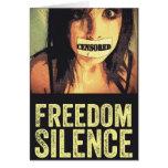 Silencio de la libertad felicitacion
