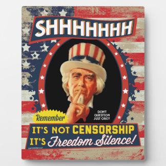 Silencio de la libertad placas para mostrar