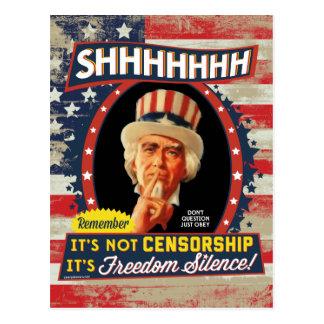 Silencio de la libertad tarjeta postal