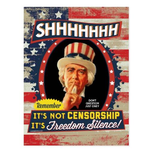 Silencio de la libertad tarjetas postales