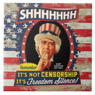 Silencio de la libertad teja