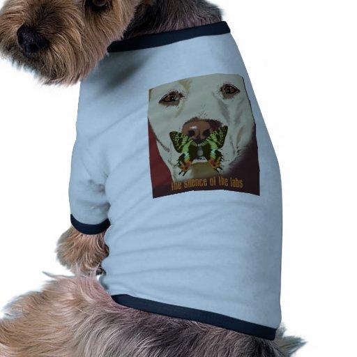 Silencio de los laboratorios camiseta con mangas para perro