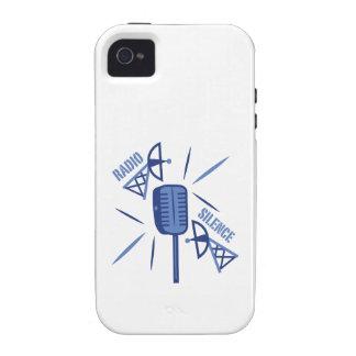 Silencio de radio vibe iPhone 4 funda