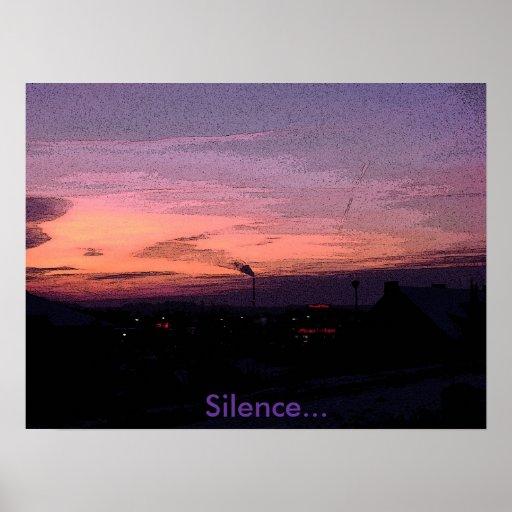 Silencio del poster… póster