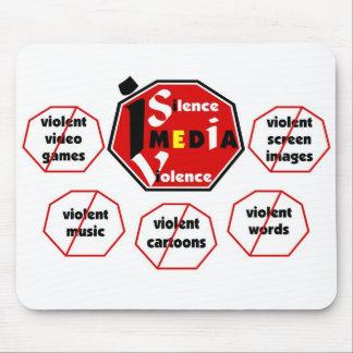 Silencio el cojín de ratón de la violencia RYBW de Tapete De Ratón