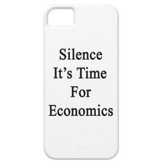 Silencio es hora para la economía iPhone 5 Case-Mate protector