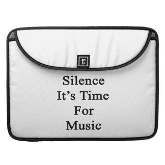 Silencio es hora para la música funda para macbook pro