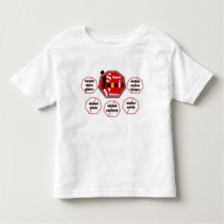 Silencio la camiseta de Violence© de los medios Polera