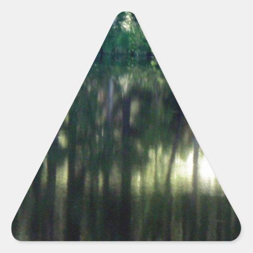 Silencio Pegatina Triangular
