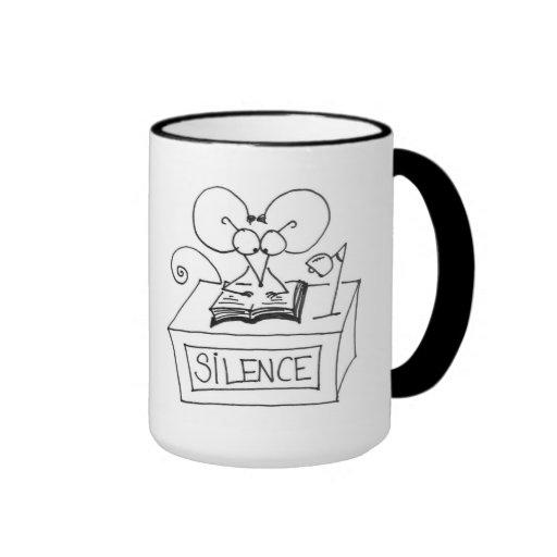 ¡Silencio! Ratón de la biblioteca - taza de Stickm