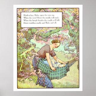 Silencio-uno-adiós de la impresión del cuarto de n póster