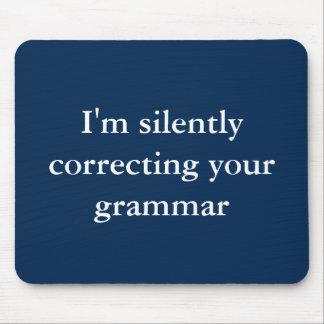 Silenciosamente corrección de su gramática tapetes de ratones