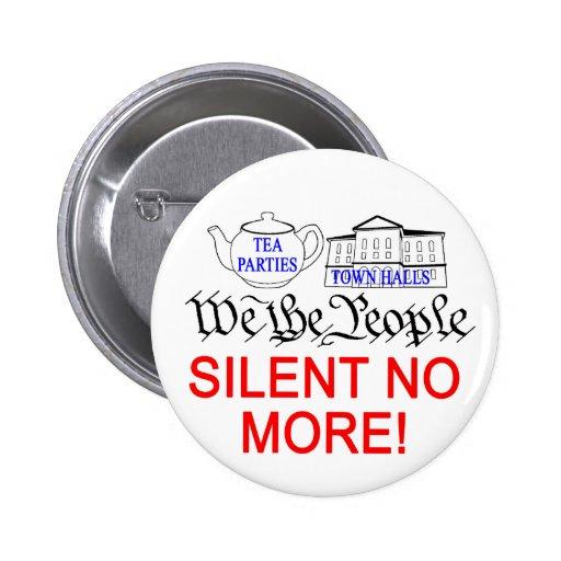 ¡Silencioso no más! botón Pins