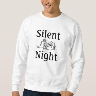 Silencioso, noche sudadera