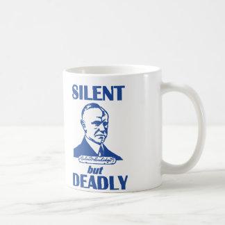 Silencioso pero muerto taza básica blanca