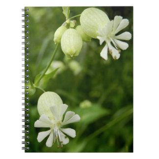 Silene Vulgaris Spiral Photo Notebook