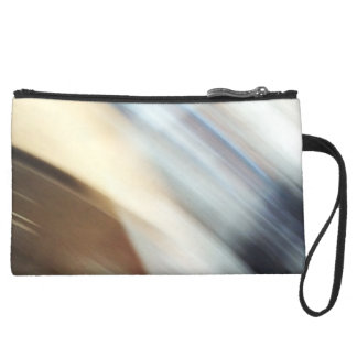"""""""Silent"""" abstract painting Wristlet Purses"""
