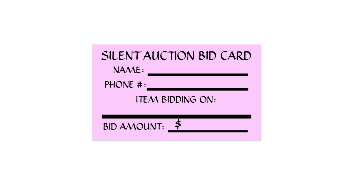 Silent Auction Bid Card  Zazzle. Minnie Mouse Background. Simple Template For Invoicing. University Of Michigan Graduate School. Good Ideas For College Graduation Gifts. Simple Business Card Template. Free General Ledger Template. Procedure Manual Template Word. Child Id Card Template Free